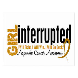 Girl Interrupted 1 Appendix Cancer Postcard