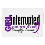 Girl Interrupted 1 Fibromyalgia Greeting Card