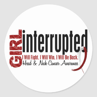 Girl Interrupted 1 Head And Neck Cancer Sticker