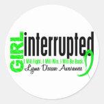 Girl Interrupted 1 Lyme Disease Round Sticker