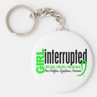 Girl Interrupted 1 Non-Hodgkin's Lymphoma Basic Round Button Key Ring