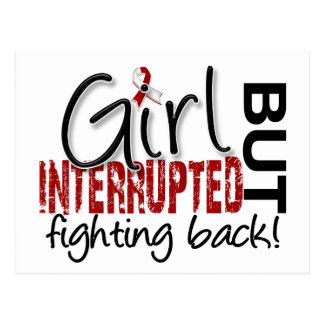 Girl Interrupted 2 Head and Neck Cancer Postcard