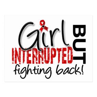 Girl Interrupted 2 Heart Disease Postcard