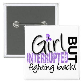 Girl Interrupted 2 Hodgkin's Lymphoma 15 Cm Square Badge