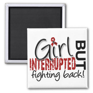 Girl Interrupted 2 Multiple Myeloma Square Magnet