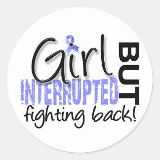 Girl Interrupted 2 Thyroid Disease Round Sticker