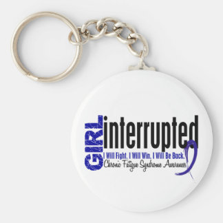 Girl Interrupted CFS Chronic Fatigue Syndrome Basic Round Button Key Ring