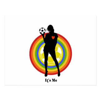 girl it s me soccer player and big fans post cards