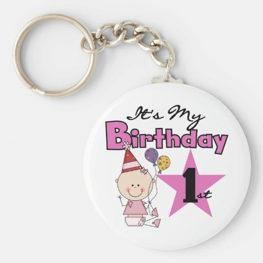 Girl It's My Birthday Tshirts and Gifts Key Chain