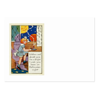 Girl Jack O Lantern Man In The Moon Pack Of Chubby Business Cards