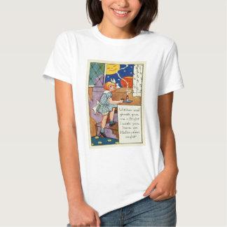 Girl Jack O Lantern Man In The Moon Tshirt