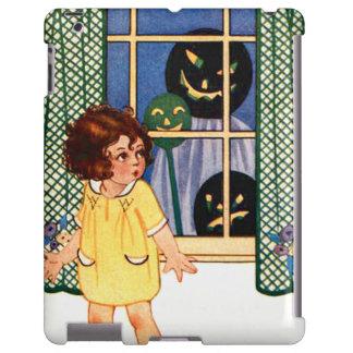 Girl Jack O' Lantern Pumpkin Trick Or Treat iPad Case