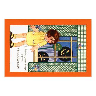 Girl Jack O' Lantern Pumpkin Trick Or Treat Photo Art
