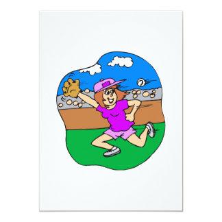 girl jump for it 13 cm x 18 cm invitation card