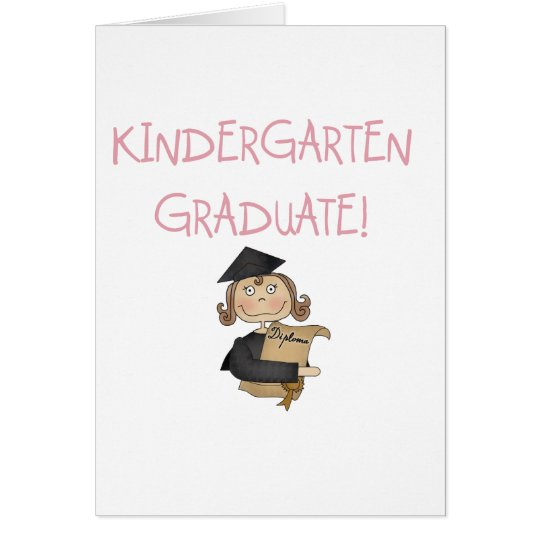 Girl Kindergarten Graduate Tshirts and Gifts Card
