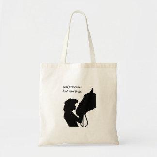 Girl Kissing Horse Tote Bag
