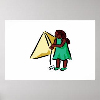 Girl Kiting Print