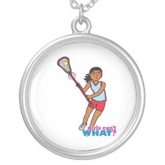 Girl Lacrosse Player - Dark Custom Jewelry