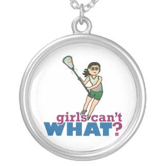 Girl Lacrosse Player in Green Jewelry
