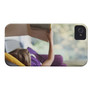 Girl laying down reading book Case-Mate iPhone 4 case