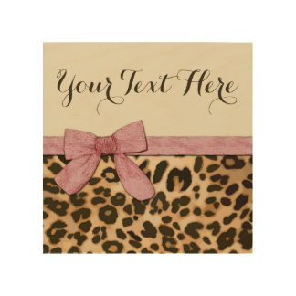 Girl Leopard Print Baby Pink Bow