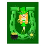 Girl Leprechaun 1 Post Card