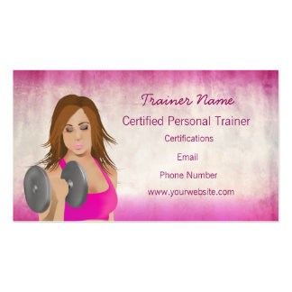 Girl Lifting Personal Trainer Business Card