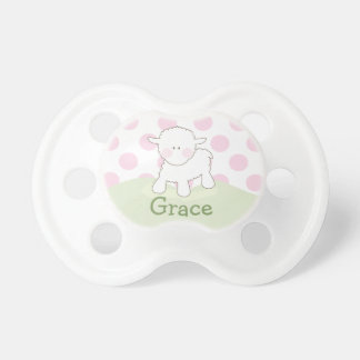 Girl Little Lamb | Personalized Pacifier