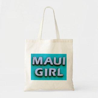 girl maui green budget tote bag