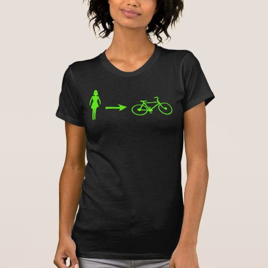 girl meets bike logo front, .com back T-Shirt