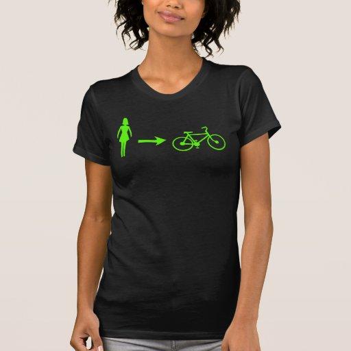 girl meets bike logo front, .com back tee shirt