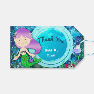 Girl Mermaid Birthday Party Under the Sea Favor
