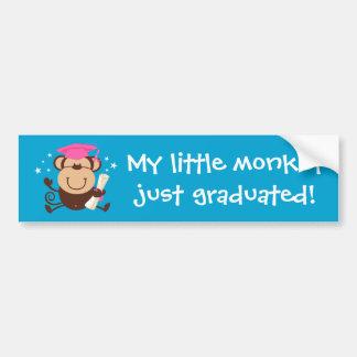 Girl Monkey Graduate Custom Car Bumper Sticker