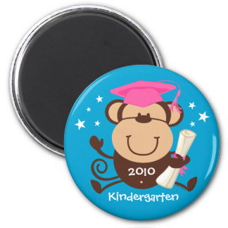 Girl Monkey Graduate Custom Fridge Magnet