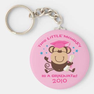Girl Monkey Graduate Keychains