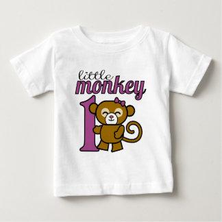 Girl Monkey is 1 Baby T-Shirt