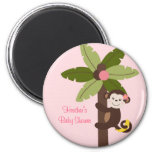 Girl Monkey Jungle Party Favour Magnets