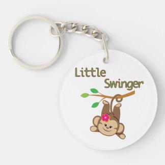 Girl Monkey Little Swinger Acrylic Keychains