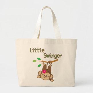 Girl Monkey Little Swinger Canvas Bag