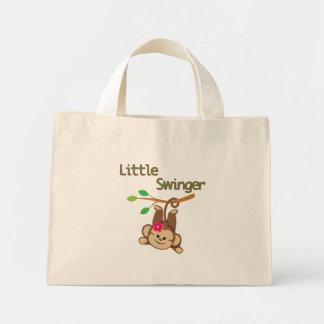Girl Monkey Little Swinger Tote Bag