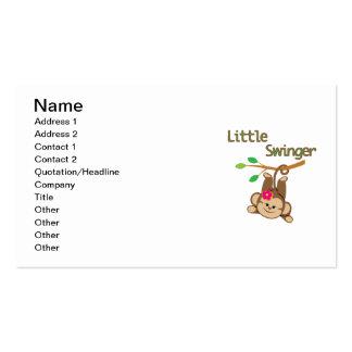 Girl Monkey Little Swinger Double-Sided Standard Business Cards (Pack Of 100)