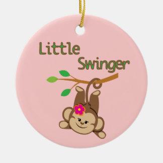 Girl Monkey Little Swinger Christmas Ornament