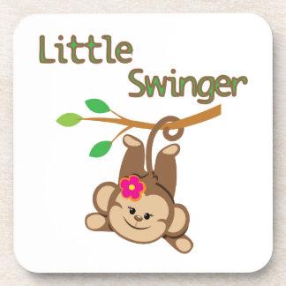 Girl Monkey Little Swinger Coasters
