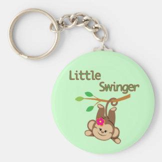 Girl Monkey Little Swinger Keychains