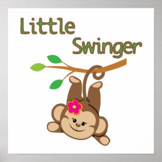 Girl Monkey Little Swinger Poster