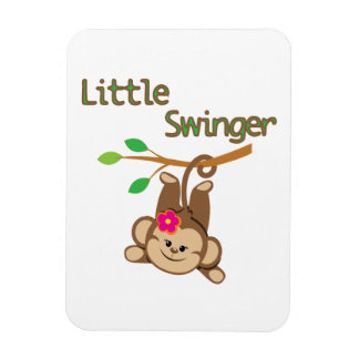 Girl Monkey Little Swinger Vinyl Magnet