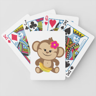 Girl Monkey With Banana Bicycle Card Deck