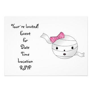 Girl mummy personalized invitation