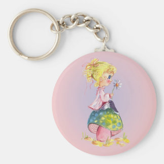 GIRL & MUSHROOM by SHARON SHARPE Keychain