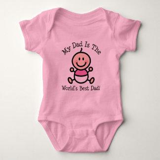Girl My Dad is The Worlds Best Dad Baby Bodysuit